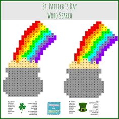 Printable Pot of Gold St. Patrick's Day Word Search for Kids - Coupons Are Great