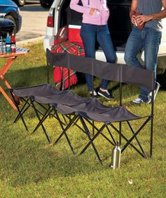 Outdoor seating taken care of! Folding 4-Person Chair #outdoors #summer #staycation