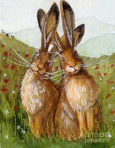 Happy hares