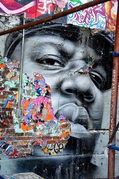 Street art.  B. I. Double G. I. E.