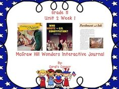 This 5th grade interactive journal is aligned to Common Core and to the McGraw Hill Wonders series for Unit 2-Week 1. This highly INTERACTIVE journal is ideal for teaching all of this week's skills in a powerful, student-friendly way!