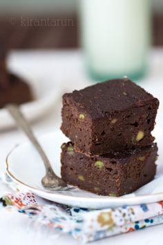 Fudgy Cocoa Avocado Brownies. No butter!