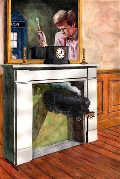 Doctor Who Magritte painting