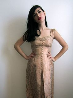1950's Evening Dress Pink Champagne