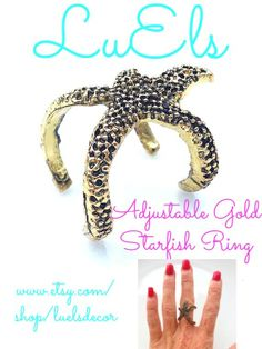 super cute starfish ring