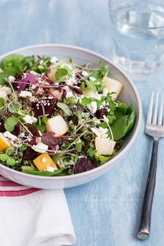Roasted Beet, Pear and Quinoa Salad /