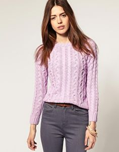 Pastel lilac sweater