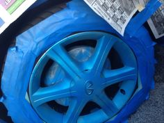 Blue plasti dip