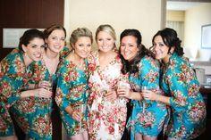 kimono crossov, bridesmaids floral robes, bridesmaid kimono, gift ideas, floral bridesmaid robes