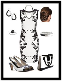 """""""Black and White done right."""" by tsartin001 on Polyvore"""