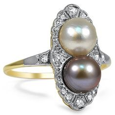 The Libra Ring, 1940's pearl
