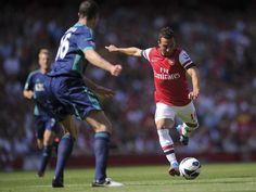 Santi Cazorla got an early taste of Premier League life at Arsenal.