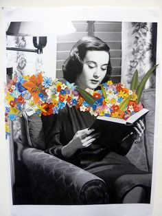 gorgeous collage in an altered book!