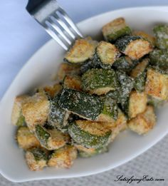 Baked Zucchini Home Fries | A delicious and EASY recipe using one of summer's greatest gifts, zucchini! | satisfyingeats.com