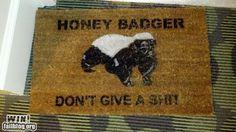 Honey badger doormat