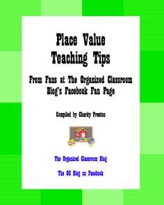 Free eBook of ideas for teaching place value. theorganizedclassroomblog.com