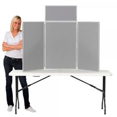 This complete Display Stand Kit features a Desktop Display Stand and Folding Trestle Table ideal for Craft fairs, Exhibitions and Open Days.  The Display Boards has fabric covering to display posters.