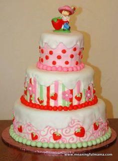 Strawberry Shortcake Birthday Cake. So cute :)