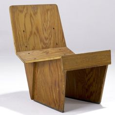 Frank Lloyd Wright; Tidewater Cypress Plywood Chair for the Charles and Dorothy Manson Residence, 1938.