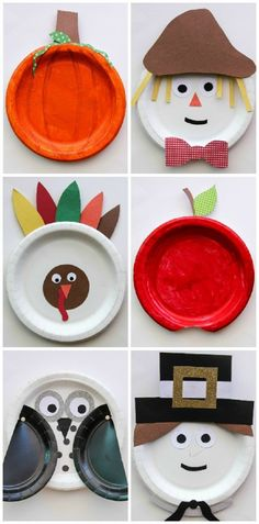 thanksgiving crafts, paper plate art, fall crafts, diy crafts kids paper plates, fall paper