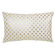 Caitlin Wilson Textiles: Gold Polka Dot Pillow