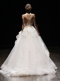 Back View  Bridal Gowns, Wedding Dresses by Lazaro - Style LZ3413