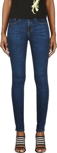 Nobody Denim Blue Skinny Cult Jeans