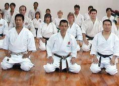 Con el Sensei Masaharu Fujita de la JKA del Japon y Sensei Satoshi Yoshikawa (q.e.p.d.)