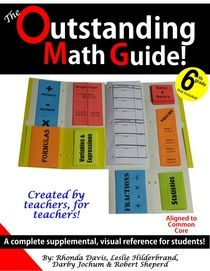 Book of foldables and graphic organizers for 6th grade common core