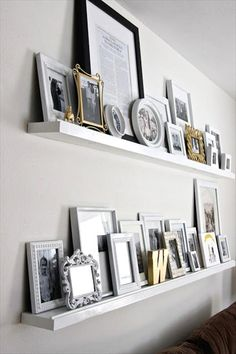 DIY Picture Frame Shelves - 12 DIY Small Home Decor Projects | NewNist