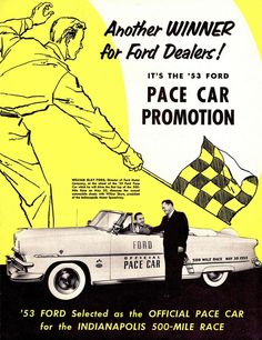 1953 Ford Sunliner Indy 500 Pace Car by aldenjewell, via Flickr