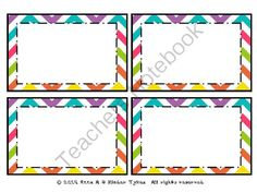 FREE Multi Chevron Labels created by Kinder Tykes from KinderTykes on TeachersNotebook.com -  (2 pages)  - These Multi Chevron Labels created by Kinder Tykes are perfect for labeling anything within your classroom!