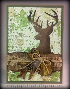 Stampin' Up! card created by Melissa @ crazypaperfreak.blogspot.com. Remembering Christmas, Gorgeous Grunge, Camo,