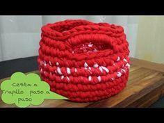 Cesta Roja a Crochet !! TUTORIAL ¡¡