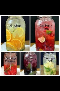 Flavored waters - http://www.theyummylife.com/Flavored_Water