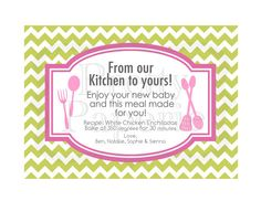 From the Kitchen Gifting Dinner Printable by theprettypaperie