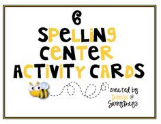 FREE This file includes 6 activity cards that make setting up and differentiating spelling centers a breeze! They are part of a larger set of 52 Spellin...