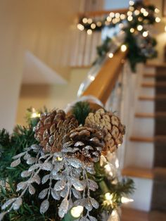 Sparkling Staircase - Our 50 Favorite Handmade Holiday Decorating Ideas on HGTV