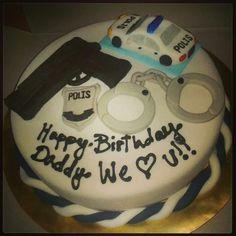 Police Groomsman Cake