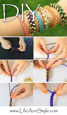 diy chain bracelets
