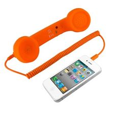 car charger, iphone 4s, phone handset, meelectron usb, appl iphon, apples, retro phone, gift idea, pop phone