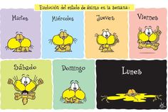 Dias de la semana según Gaturro #Humor #Gaturro #comics #Nik
