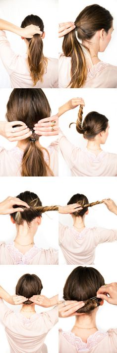 An easy updo - looks simliar to a sideways french twist