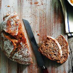 No Knead Bread with Bran