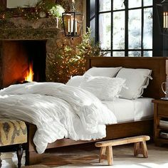 bedroom with a fire place