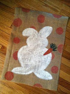 Easter Burlap Garden Flag