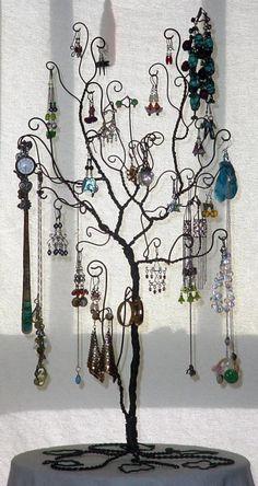 Large Jewelry Tree Display Stand. $80.00, via Etsy.