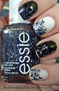 #Winter #nails #sparkle