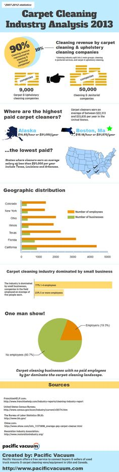 Carpet Cleaning Industry Analysis 2013 - new infographic about the carpet cleaning industry.