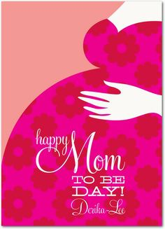 Sweet Maternity - Mother's Day Greeting Cards in Fuchsia | Eleanor